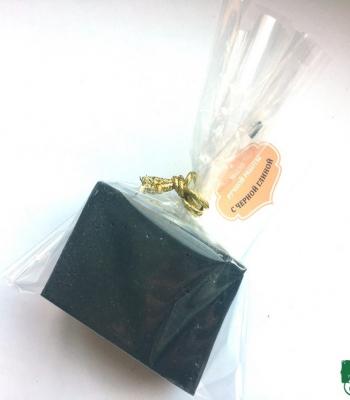 Мыло с черной глиной, 50 г
