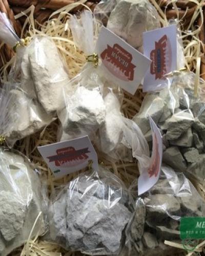 Набор пробников глины для еды, ОРЕШЕК, 5 видов по 100 г