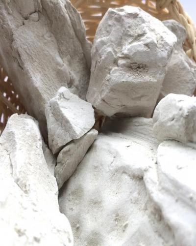 Глина Белая прессованная, пакет 1 кг