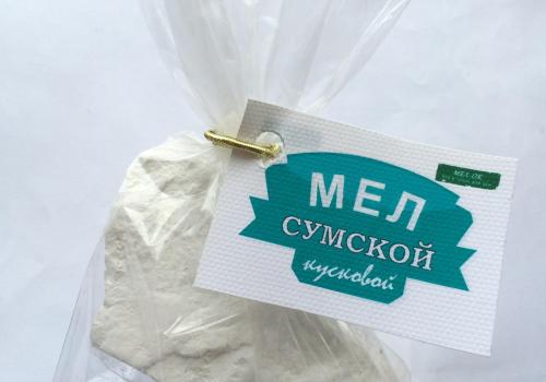 Мел Сумской кусковой, пробник 100 г