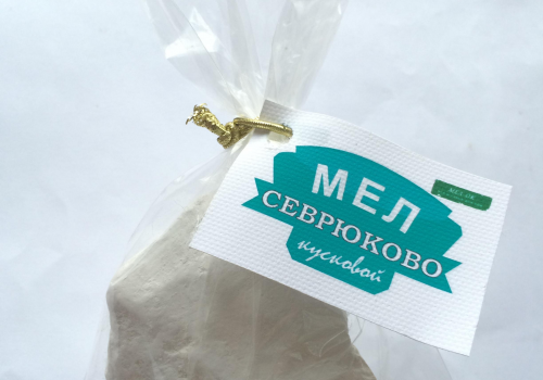 Мел Севрюково кусковой, пробник 100 г