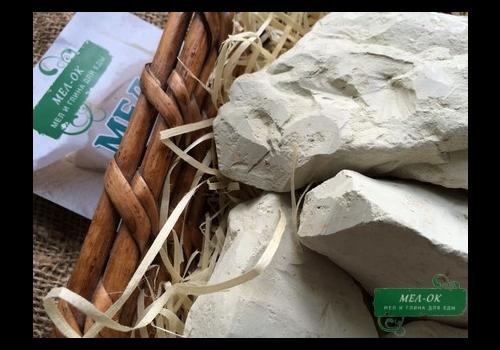 Глина Зеленая кусковая, пакет 1 кг