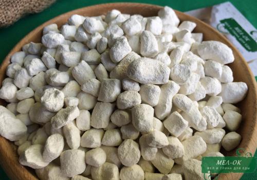 Глина Белая в гранулах, пакет 100 г
